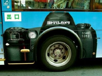 聪明又有创意的公交车广告